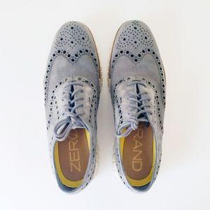 COLE HAAN ZERO GRAND wingtip oxfords shoes men 9.5